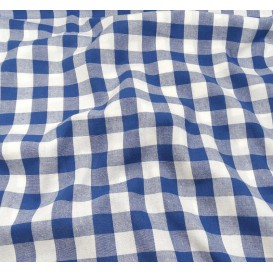 coupon coton vichy 18mm bleu