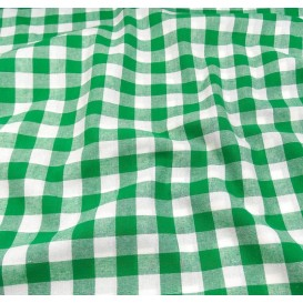 coupon coton vichy 18mm vert