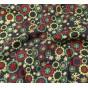 tissu noël marine couronnes de noël largeur 150cm x 50cm