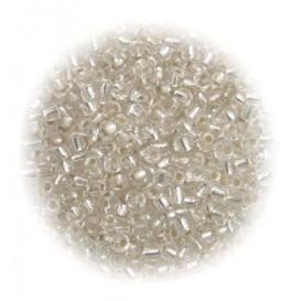 perles de verre ronde argent 15 gr