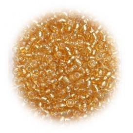 perles de verre ronde or 15 gr