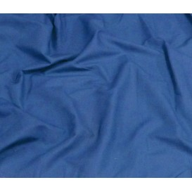 coupon popeline uni bleu