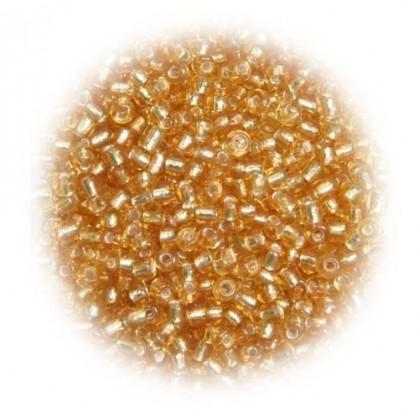 perles de verre tranparent or 15 gr