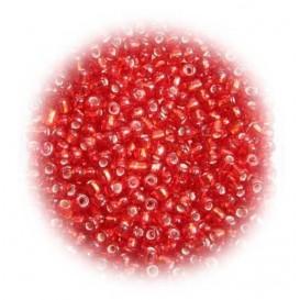 perles de verre tranparent rouge 15 gr