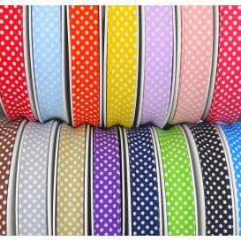 biais à pois 20mm 70%Coton 30%Polyester au mètre