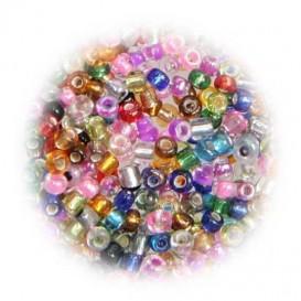 perles de verre tranparent assortis 15 gr