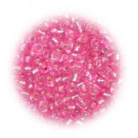 perles de verre tranparent rose 15 gr
