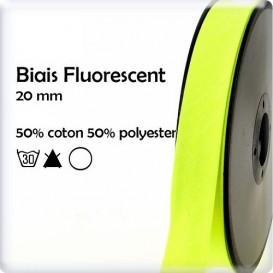 biais jaune fluorescent 20mm au mètre