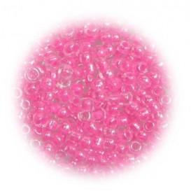 perles de verre tranparent fuchia 15 gr