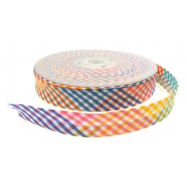 biais vichy multicolore 20mm au mètre