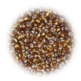 perles de verre tranparent bronze 15 gr