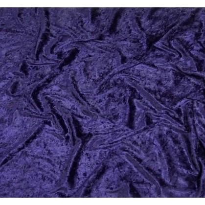 coupon panne de velours bleu marine