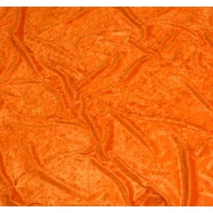 coupon panne de velours orange