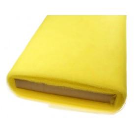 tulle uni jaune au mètre
