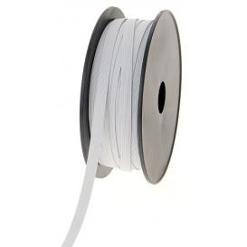 coupon 3m élastique tresse plate blanc 4mm