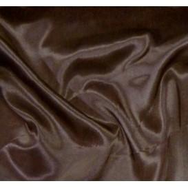 tissu satin chocolat largeur 140cm au mètre