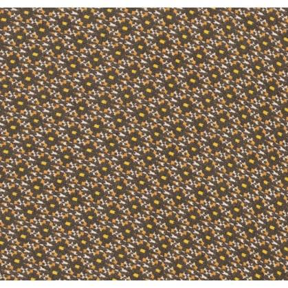 tissu voile polyester noir formes largeur 150cm x 50cm