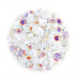 perles de verre translucide aurore 3mm