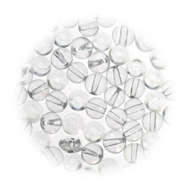 perles de verre translucide 5mm