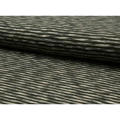 tissu leggings rayures noir/blanc 5mm largeur 145cm x 50cm