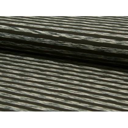 tissu leggings rayures noir/blanc 9mm largeur 145cm x 50cm