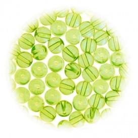 perles de verre translucide vert 5mm