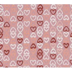 tissu jersey rose coeurs multicolores largeur 145cm x 50cm