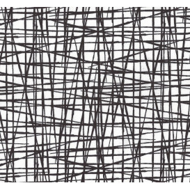 tissu jersey blanc rayures noires largeur 145cm x 50cm