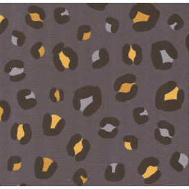 tissu jersey gris léopard largeur 145cm x 50cm