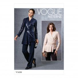 patron haut Vogue V1658