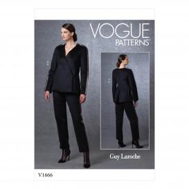 patron veste et pantalon Vogue V1666