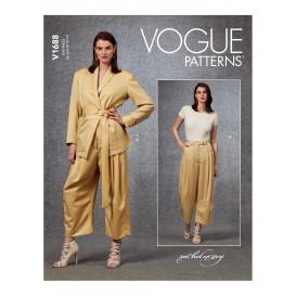 patron veste, ceinture et pantalon Vogue V1688
