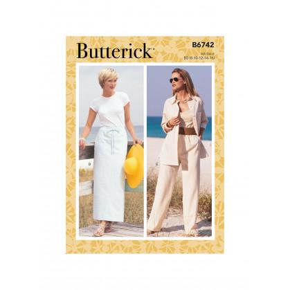 patron jupe, short et pantalon Butterick B6742