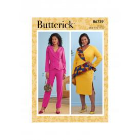 patron veste, jupe et pantalon Butterick B6739