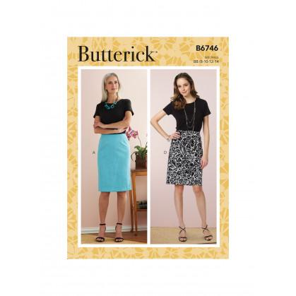 patron jupe et ceintue Butterick B6746