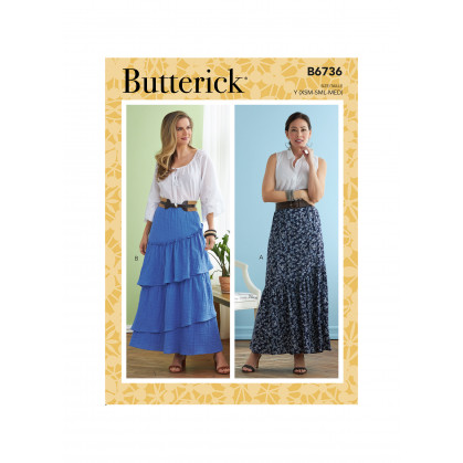 patron jupe Butterick B6736