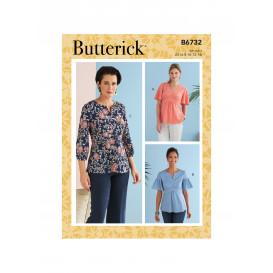 patron haut avec taille bonnet Butterick B6732