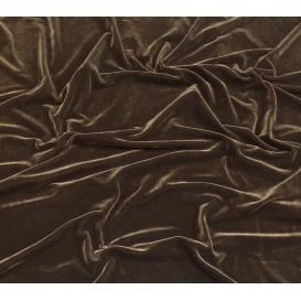 tissu velours extensible marron largeur 140cm x 50cm