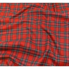 tissu écossais rouge largeur 140cm x 50cm