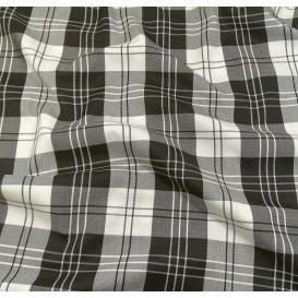 tissu écossais noir/blanc largeur 140cm x 50cm