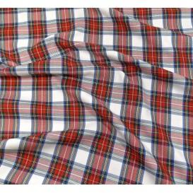 tissu écossais rouge/blanc largeur 140cm x 50cm