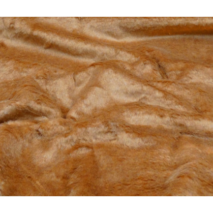 tissu imitation fourrure camel largeur 153cm x 50cm