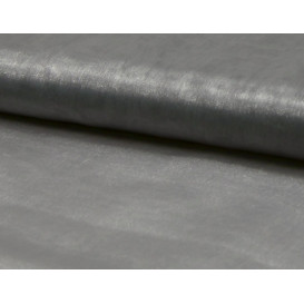 tissu organza argent largeur 150cm x 50cm