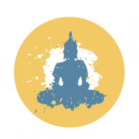 transfert vêtement buddha thermocollant