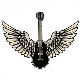 transfert vêtement guitare ailes thermocollant