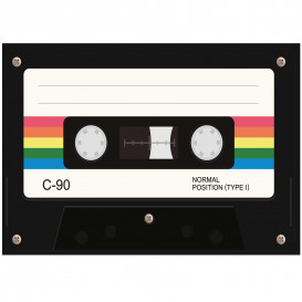 transfert vêtement cassette audio thermocollant