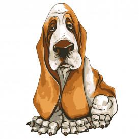 transfert vêtement chien basset thermocollant