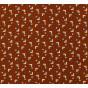 tissu viscose marron carré largeur 140cm x 50cm