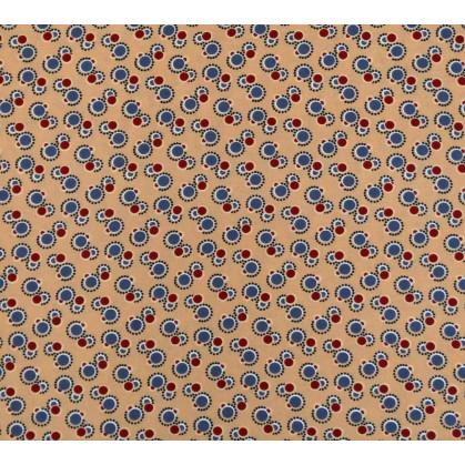 tissu viscose abricot ronds largeur 140cm x 50cm