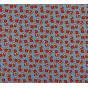 tissu viscose bleu ronds largeur 140cm x 50cm